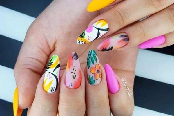 Красивые идеи маникюра на длинные ногти