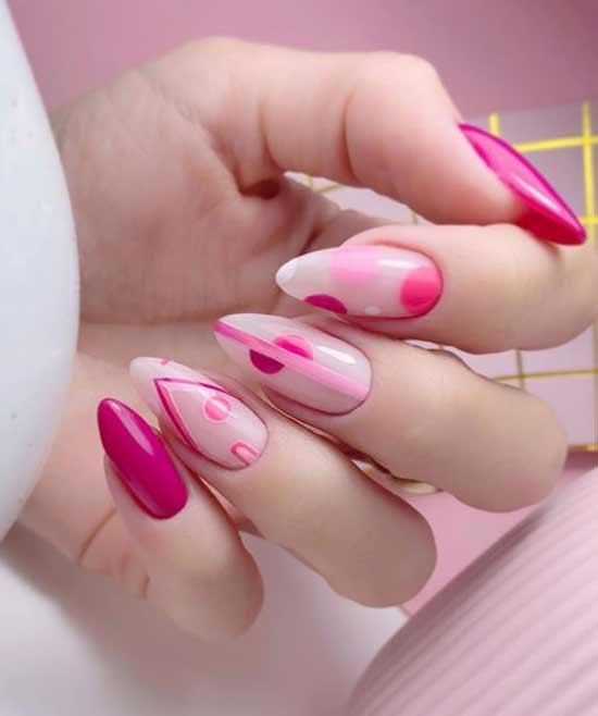 Цвет фуксия длинные ногти