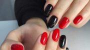 Красно-черный маникюр: фото, новинки, модный дизайн ногтей