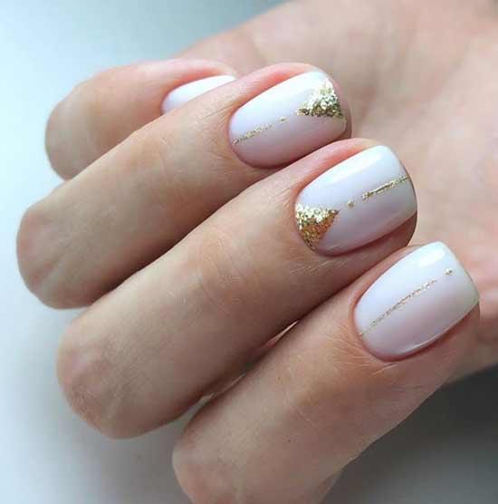 Свадебный маникюр на короткие ногти: фото, тенденции, новинки