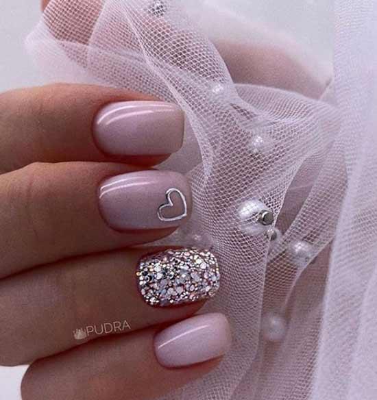 Свадебный с сердечком