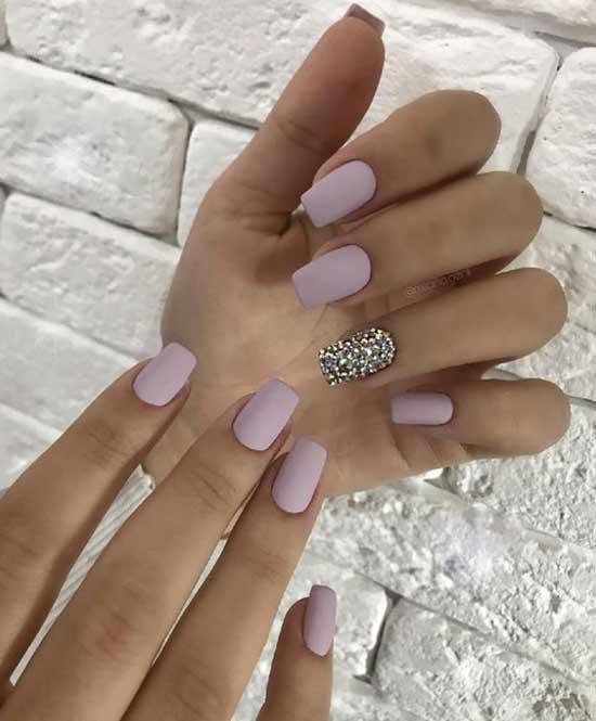 Матовый на свадьбу дизайн ногтей