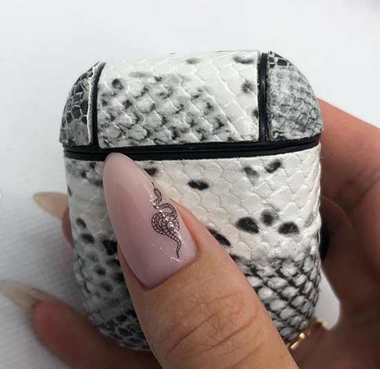 Острые ногти анимал-принт