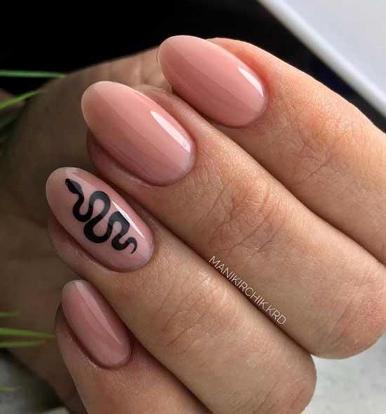 Животный принт ногти