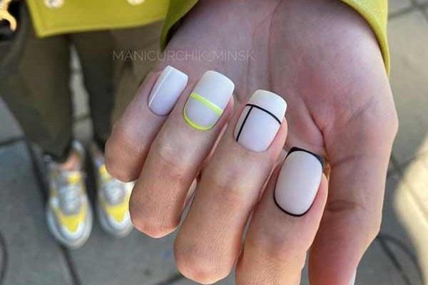 Модная геометрия дизайн ногтей фото