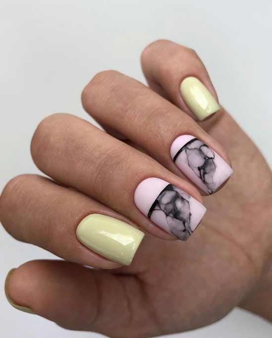 Квадратные ногти геометрия