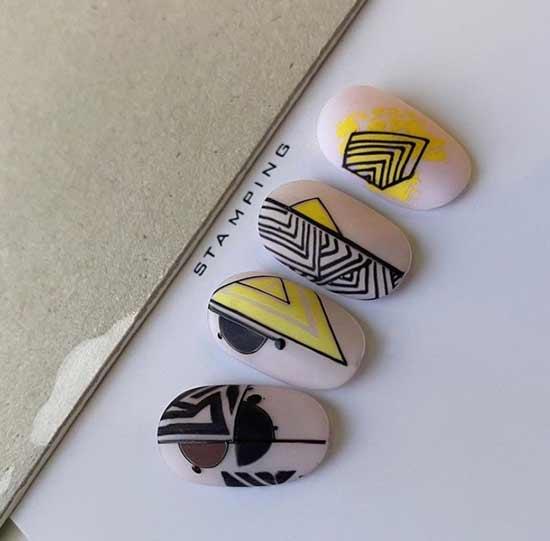 Примеры стемпинга стиль геометрия