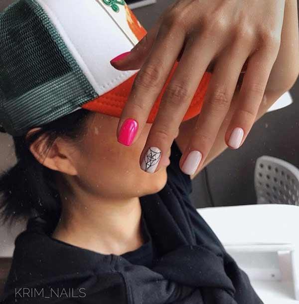 Новинки дизайн геометрия на ногтях