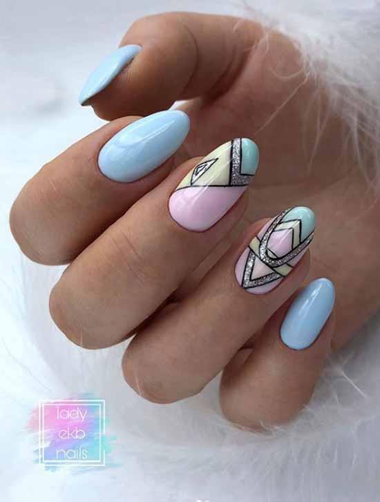 Дизайн ногтей геометрия: новинки, фото, лучшие идеи маникюра