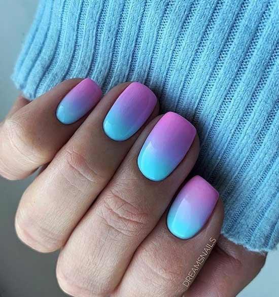 Дизайн ногтей градиент фото