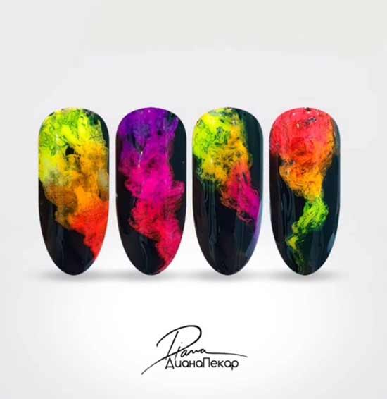 Дизайн градиент на ногтях