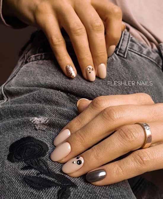 Дизайн ногтей нюд: 100 красивых фото-новинок маникюра