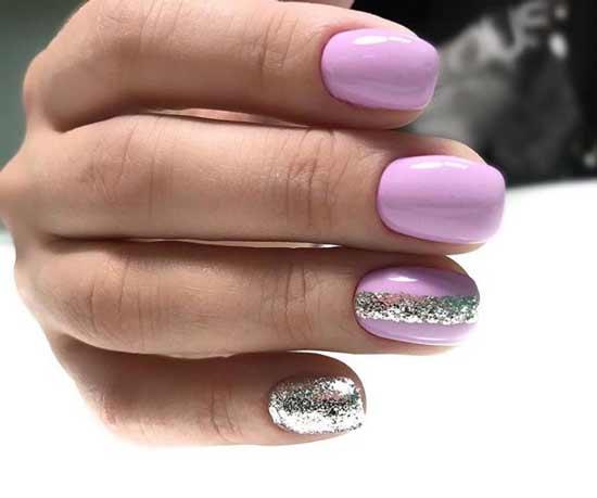 Полоска серебряными блестками