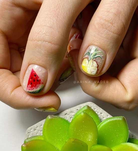 Идеи маникюра с фруктами