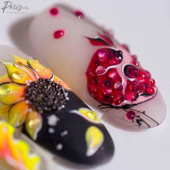 Маникюр с фруктами 2020-2021: фото-новинки дизайна ногтей