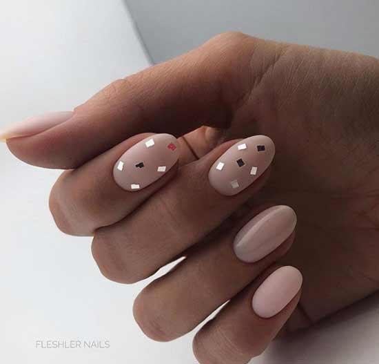 Несложный дизайн ногтей