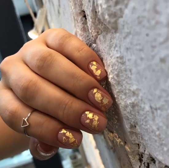 Дизайн ногтей - поталь
