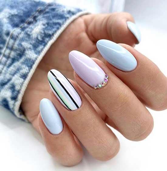 Простой дизайн ногтей с полосками