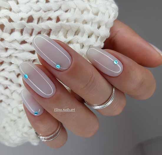 Несложный дизайн ногтей фото
