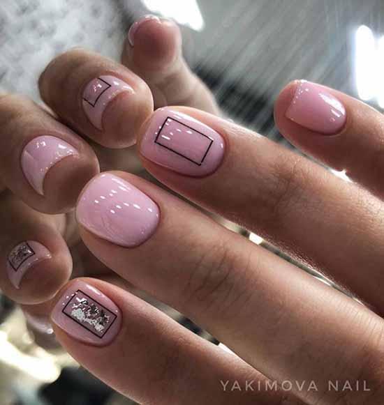 Дизайн ногтей в розовом цвете