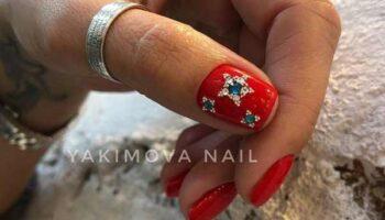 Красный маникюр на короткие ногти: фото, модные идеи