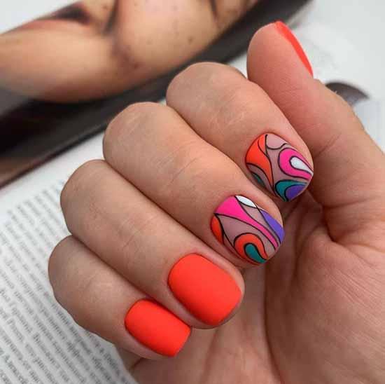 Красный дизайн ногтей короткие ногти