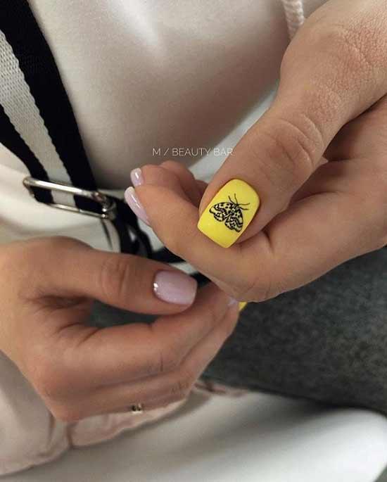 Разный дизайн квадратных ногтей