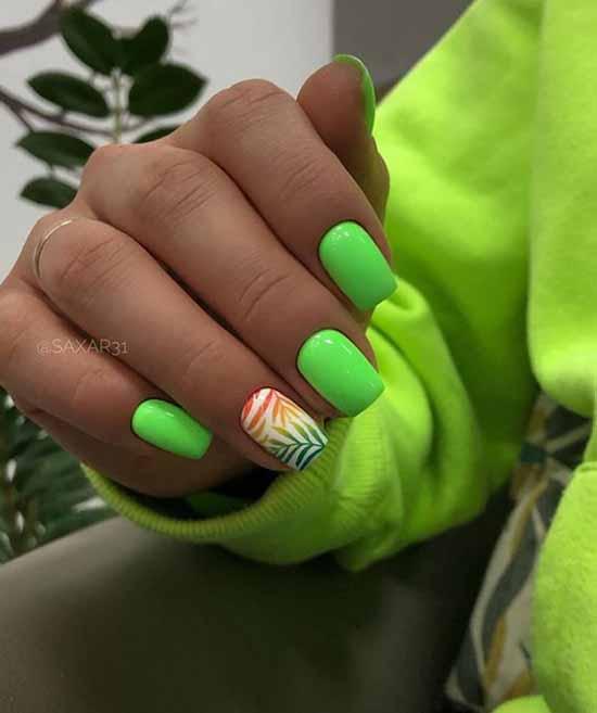 Ярко-зеленый маник