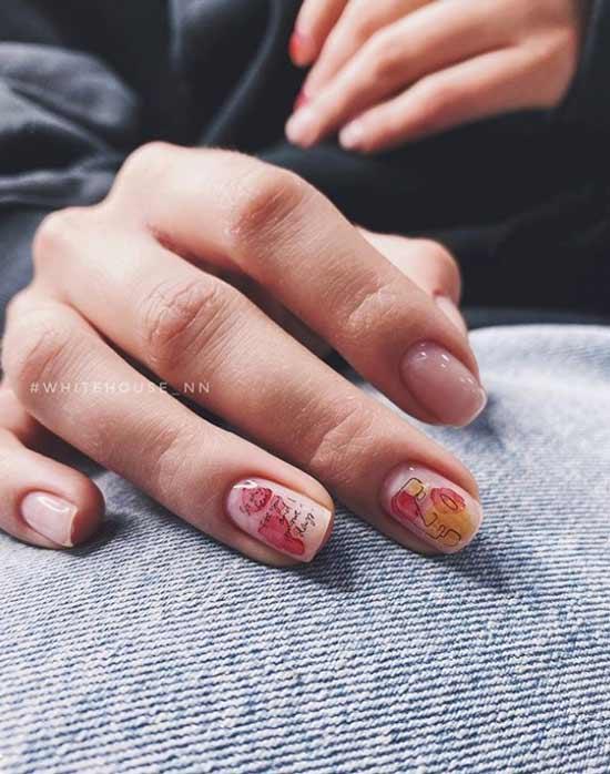 Прозрачный маникюр на короткие ногти фото