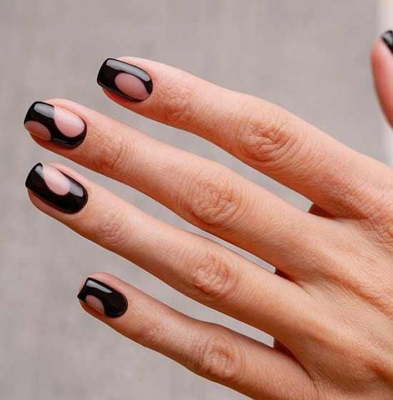 Неклассический дизайн коротких ногтей