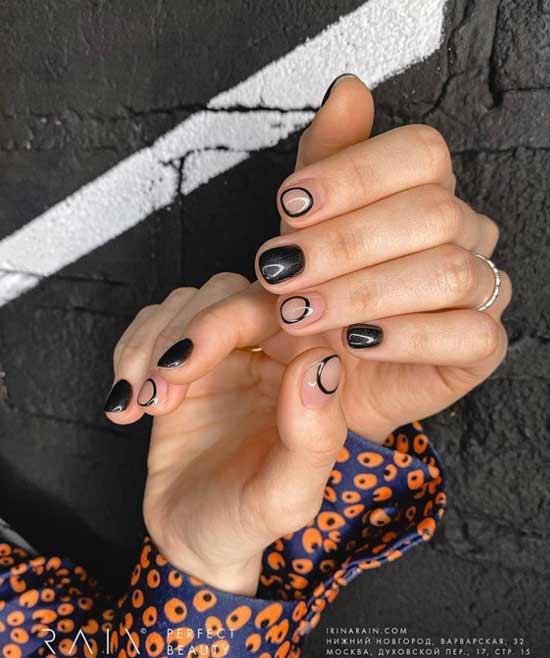 Неклассический дизайн ногтей