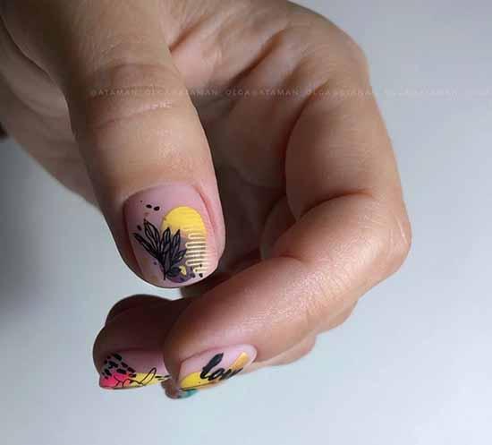 Актуальные идеи дизайна на короткие ногти