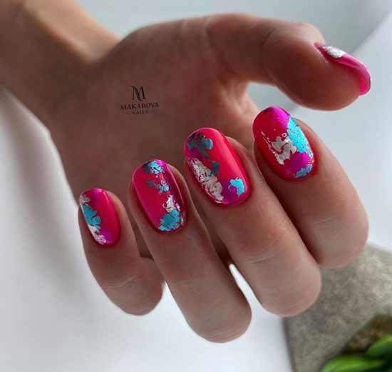 Красный маникюр овальные ногти