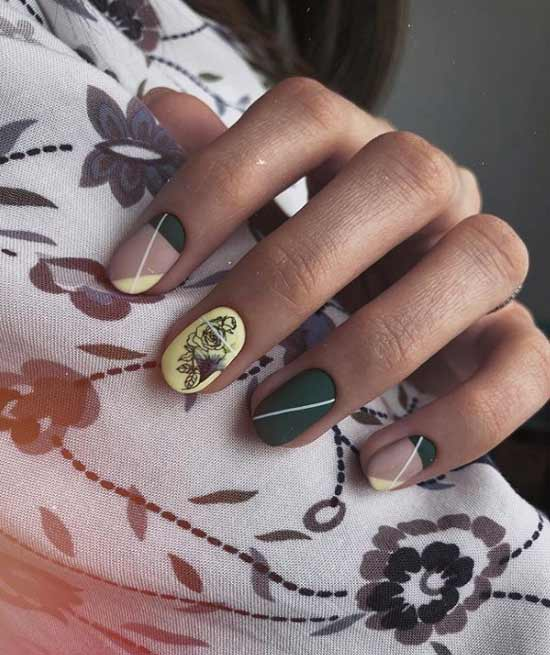 Боковой френч овальные ногти