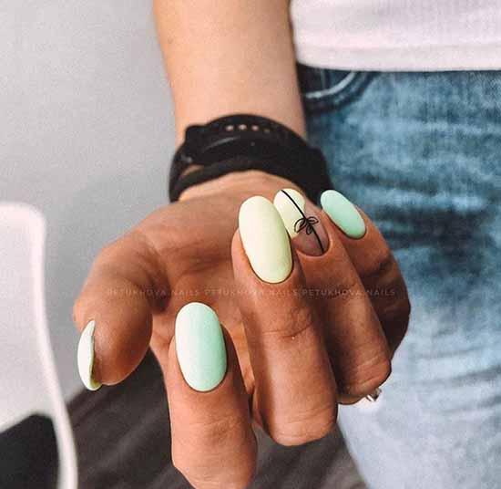 Нежный маникюр овальные ногти