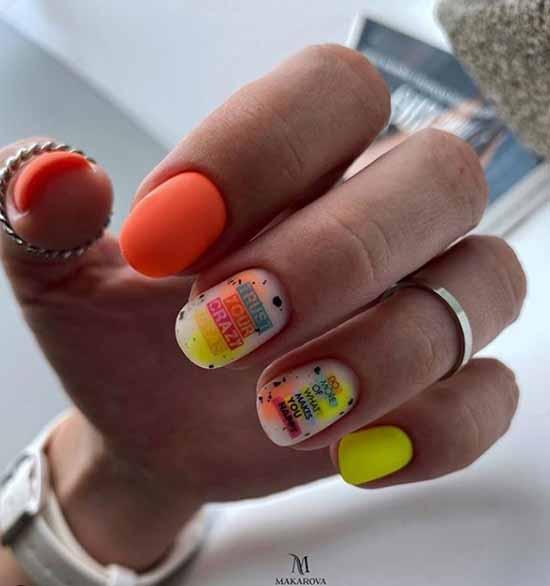 Новинки на овальные ногти