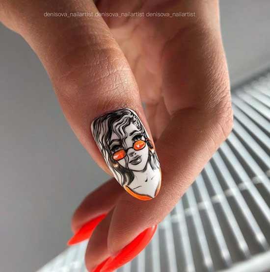 Оригинальный молодежный дизайн ногтей