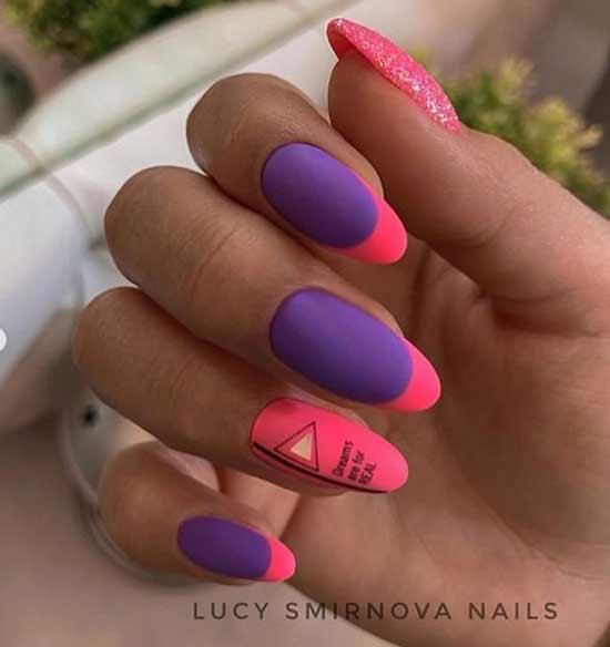 Оригинальный яркий дизайн ногтей