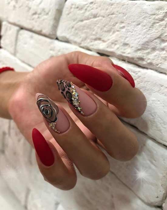 Необычный дизайн на длинные ногти