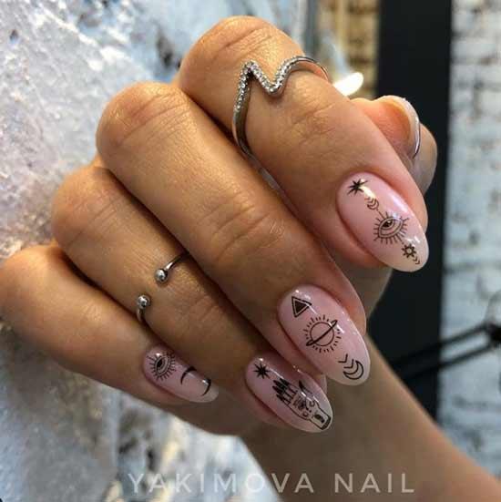 Молодежный стильный дизайн ногтей