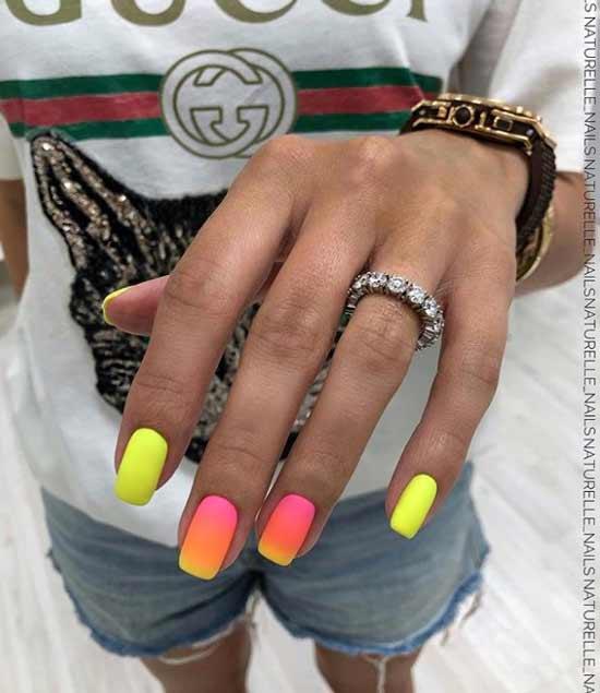 Молодежный яркий дизайн ногтей