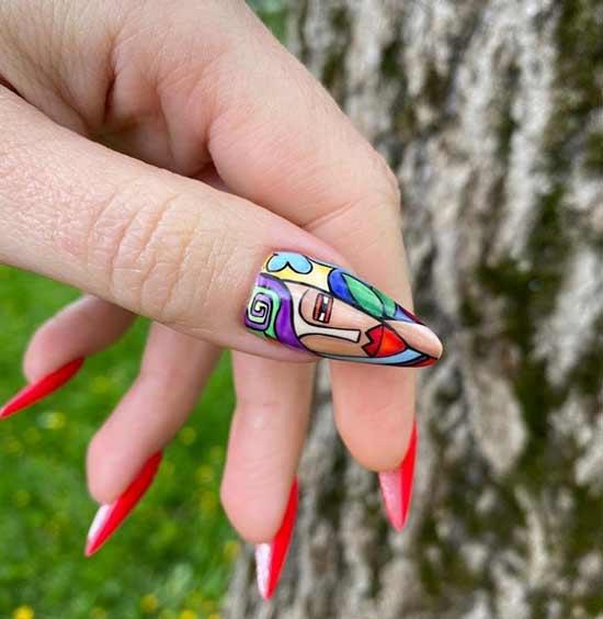 Кубизм-дизайн ногтей
