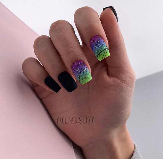 Дизайн ногтей молодежный черный