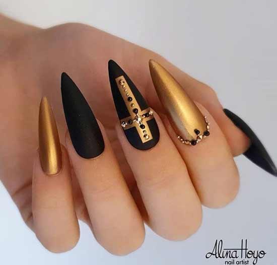 Ногти-готика