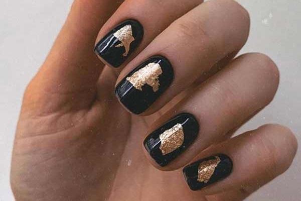 Черные ногти дизайн