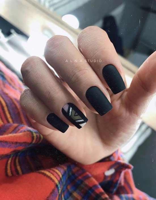 Черные ногти геометрия
