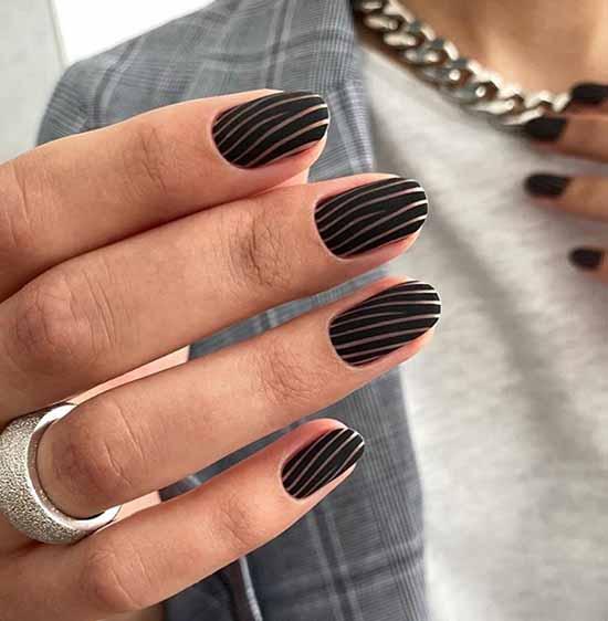 Дизайн ногтей черный повседневный: 100 стильных новинок на фото