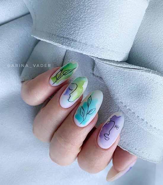 дизайн ногтей осень с рисунком