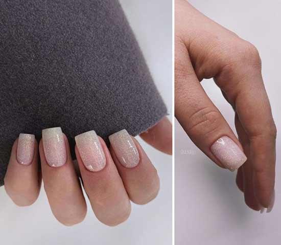Дизайн ногтей блестками