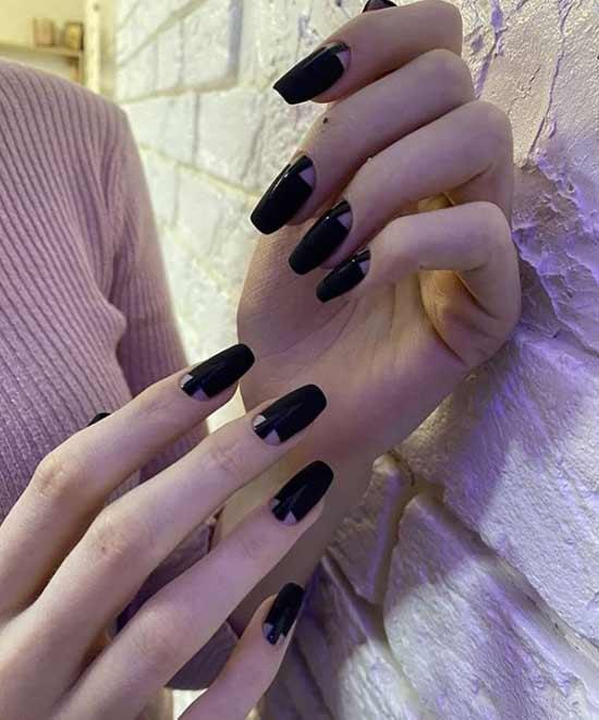 Красивый маникюр лунки на ногти балерина
